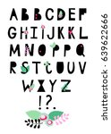 color font. vector english... | Shutterstock .eps vector #639622666