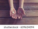 little boy child hands holding... | Shutterstock . vector #639624094