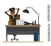 american police officer is...   Shutterstock .eps vector #639624583