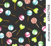 seamless pattern with... | Shutterstock . vector #639627508