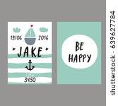 baby shower poster. newborn... | Shutterstock .eps vector #639627784