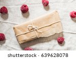 chocolate bar wrapped in paper...   Shutterstock . vector #639628078