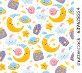 magic seamless pattern....   Shutterstock .eps vector #639628324