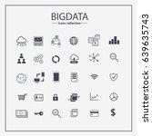 big data icon set  data... | Shutterstock .eps vector #639635743