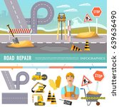 road construction and road... | Shutterstock .eps vector #639636490