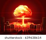 nuclear explosion. atomic bomb... | Shutterstock .eps vector #639638614