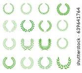laurel wreath icon set | Shutterstock .eps vector #639641764