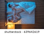 the woman sleeping in a pose... | Shutterstock . vector #639642619