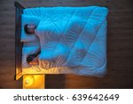 the man and woman sleeping in... | Shutterstock . vector #639642649
