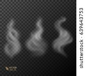 set of transparent smoke on... | Shutterstock .eps vector #639643753