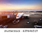 airplane near the terminal in...   Shutterstock . vector #639646519