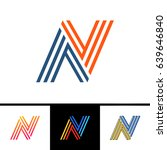 n letter formed by parallel... | Shutterstock .eps vector #639646840
