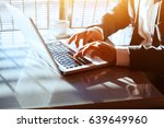 business travel  working on... | Shutterstock . vector #639649960