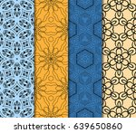 set of modern floral pattern of ... | Shutterstock .eps vector #639650860