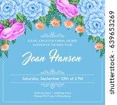 bridal shower invitation... | Shutterstock .eps vector #639653269