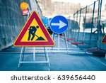 work in progress. roadworks ... | Shutterstock . vector #639656440