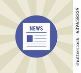 newspaper icon. sign design.... | Shutterstock . vector #639658339