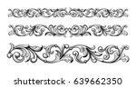 vintage baroque victorian frame ... | Shutterstock .eps vector #639662350