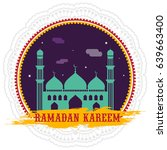 happy ramadan kareem festival... | Shutterstock .eps vector #639663400