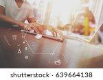 co working team meeting concept ...   Shutterstock . vector #639664138