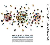 a crowd of people of different... | Shutterstock .eps vector #639666910