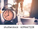 Retro Alarm Clock On The Table...