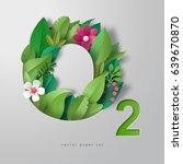 3d vector inscription o2.... | Shutterstock .eps vector #639670870
