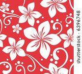 seamless hawaiian christmas... | Shutterstock .eps vector #6396748