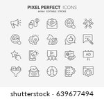 thin line icons set of... | Shutterstock .eps vector #639677494