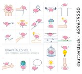 brain tales volume 1  vector... | Shutterstock .eps vector #639679330