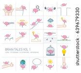 brain tales volume 1  vector... | Shutterstock .eps vector #639679330