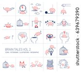 brain tales volume 2  vector... | Shutterstock .eps vector #639679390