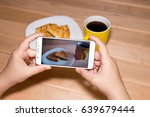 using a mobile phone to... | Shutterstock . vector #639679444