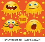 slime yellow smiley face... | Shutterstock .eps vector #639682624
