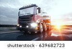 concrete mixer truck on highway.... | Shutterstock . vector #639682723