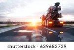 Concrete Mixer Truck On Highway....