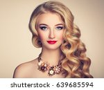 fashion portrait of young... | Shutterstock . vector #639685594