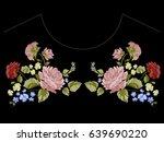 botanic trend neckline pattern... | Shutterstock .eps vector #639690220