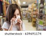a child with a handkerchief.   Shutterstock . vector #639691174