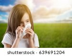 a child with a handkerchief. | Shutterstock . vector #639691204