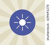 sun icon. sign design....