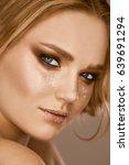 portrait of sensual beautiful... | Shutterstock . vector #639691294