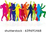 dancing people silhouettes. | Shutterstock .eps vector #639691468