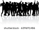 dancing people silhouettes. | Shutterstock .eps vector #639691486