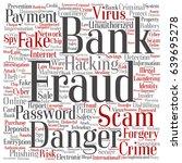conceptual bank fraud payment...   Shutterstock . vector #639695278