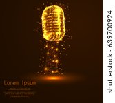 a microphone from abstract... | Shutterstock .eps vector #639700924