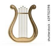 ancient lyre 3d rendering | Shutterstock . vector #639702598