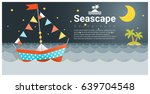 seascape background with... | Shutterstock .eps vector #639704548