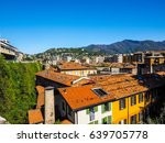 view of the city of como  italy ... | Shutterstock . vector #639705778