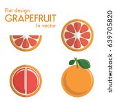 flat design grapefruit in vector | Shutterstock .eps vector #639705820